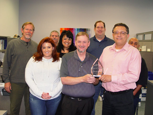 Sani Tech West 2015 Award Top 5 Distributor Finger Lakes Extrusion
