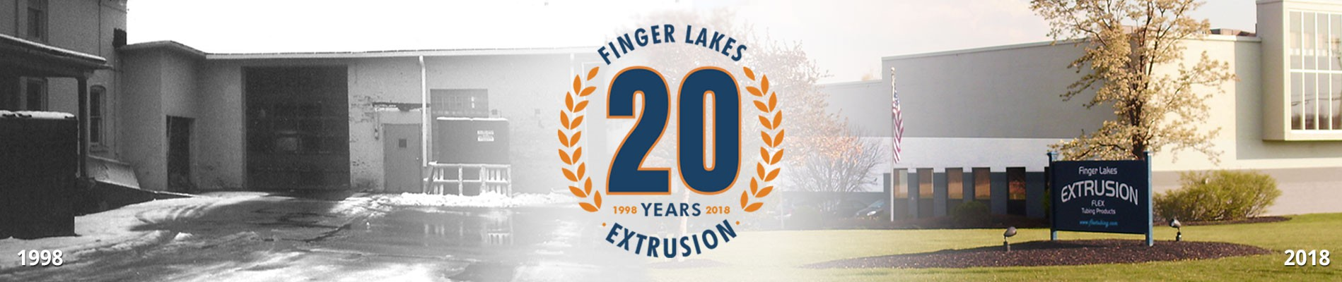 Celebrate 20 years of Finger Lakes Extrusion Banner