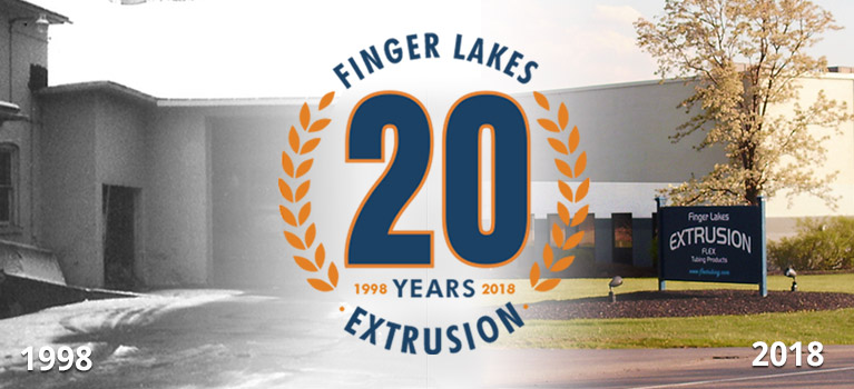 Celebrate 20 years of Finger Lakes Extrusion Mobile Banner